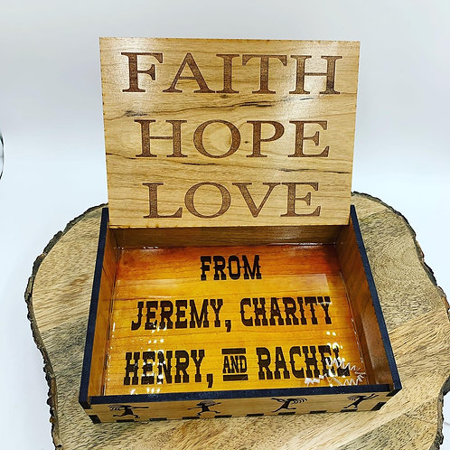 Customizable Wooden Gift Box