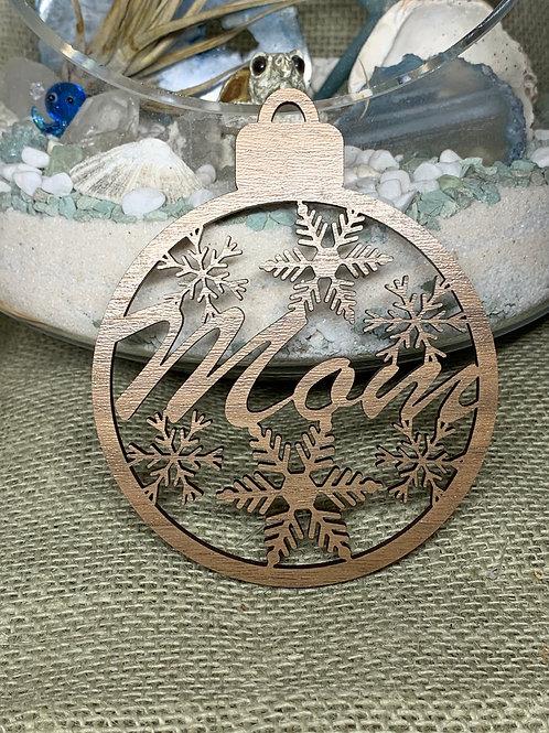 Snowflake Mom Ornament
