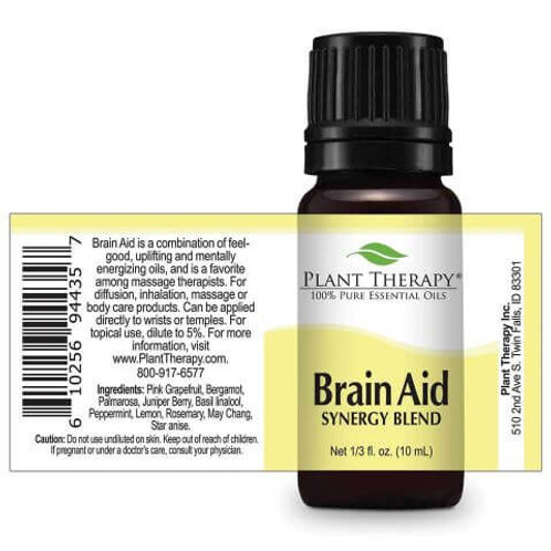 Brain Aid Synergy Blend Essential Oil by Plant Therapy