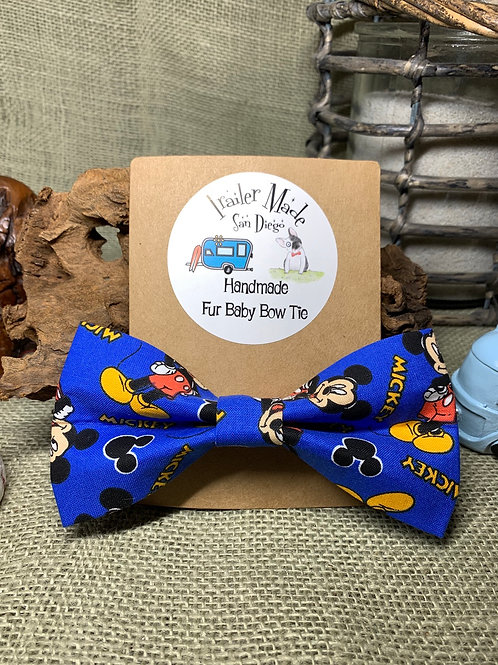 Mickey Mouse Fur Baby Bow Tie