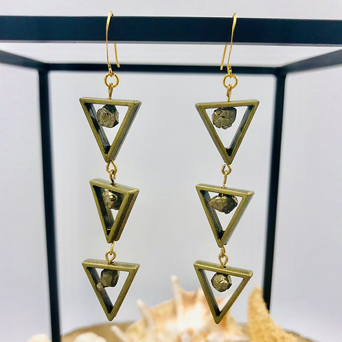 Pyrite Dangle earrings
