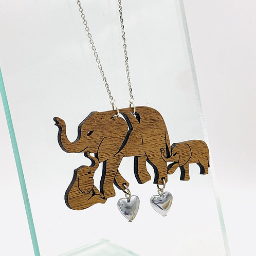 Elephant Family Love Necklace