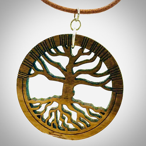 Tree of Life Necklace with leather cord