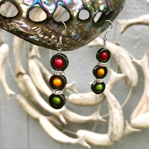 Stoplight Earrings