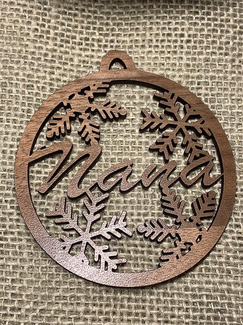 Customizable Snowflake Ornament