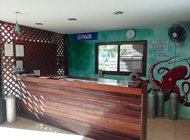 Ko Hai Divers Shop Counter
