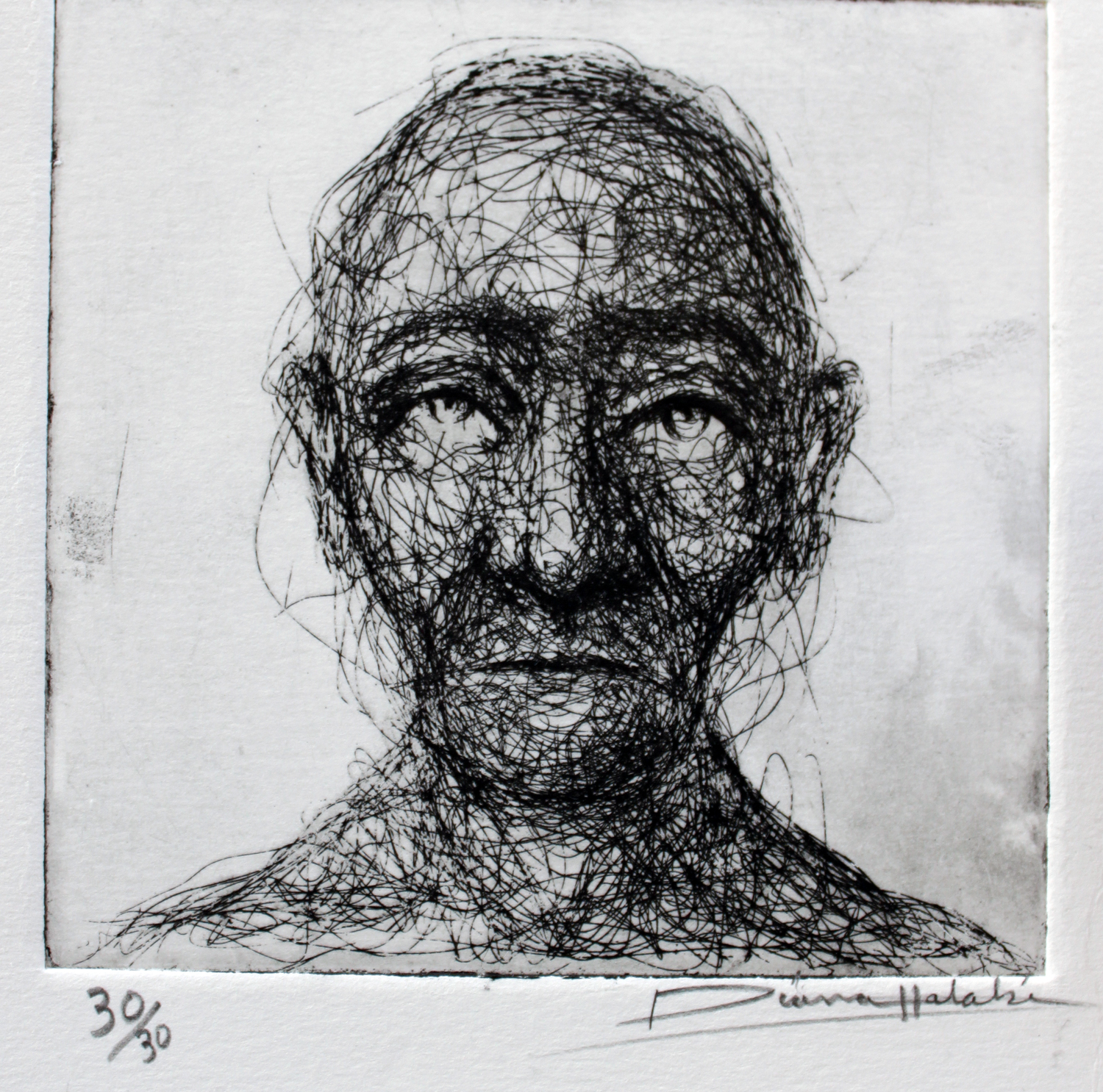 Small portrait etching