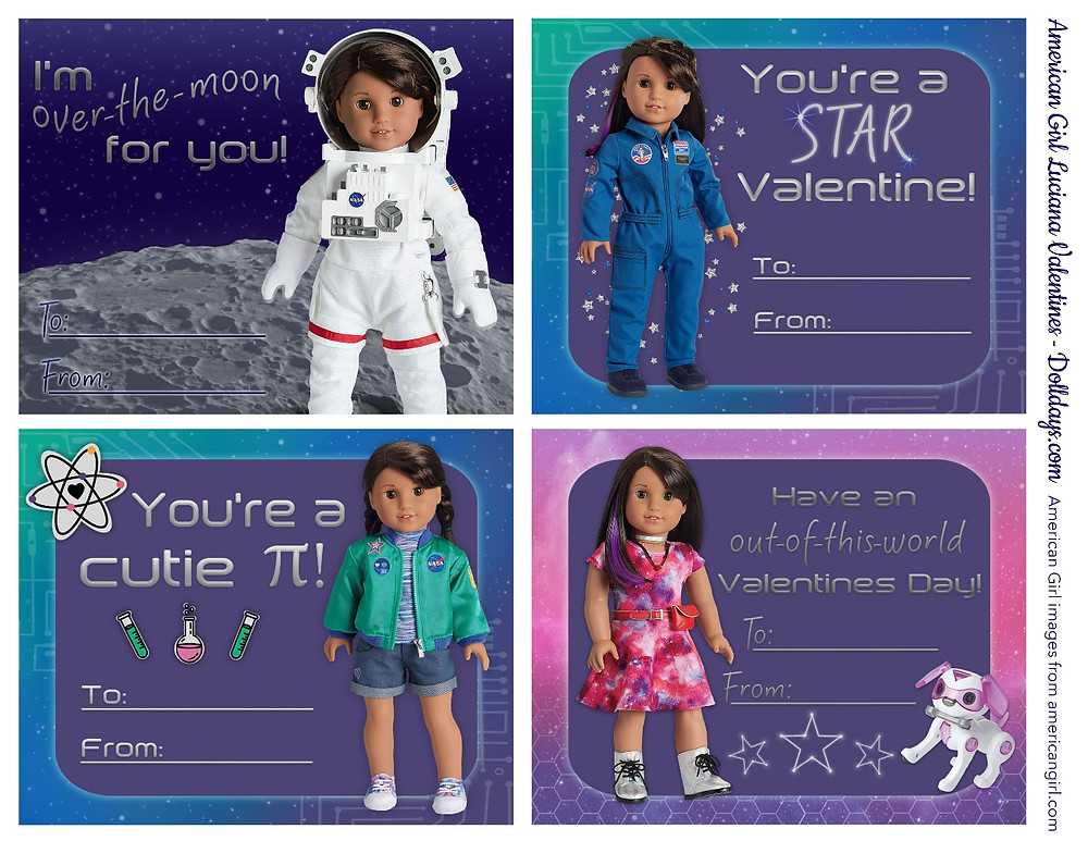 Luciana valentines, american girl valentines, luciana vega american girl doll, american girl valentine
