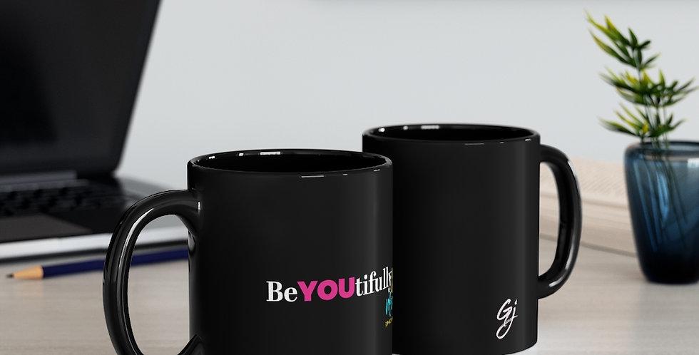 BeYOUtifully Made Black mug 11oz
