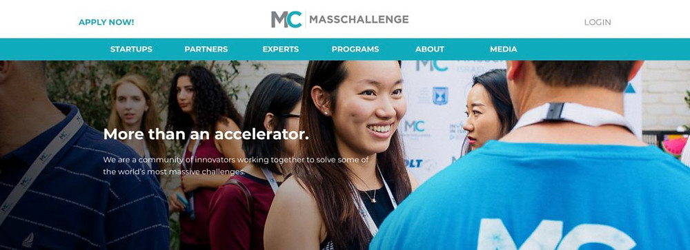 MassChallenge Home Page December 2019