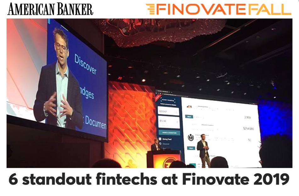 6 Standout Fintechs at Finovate 2019