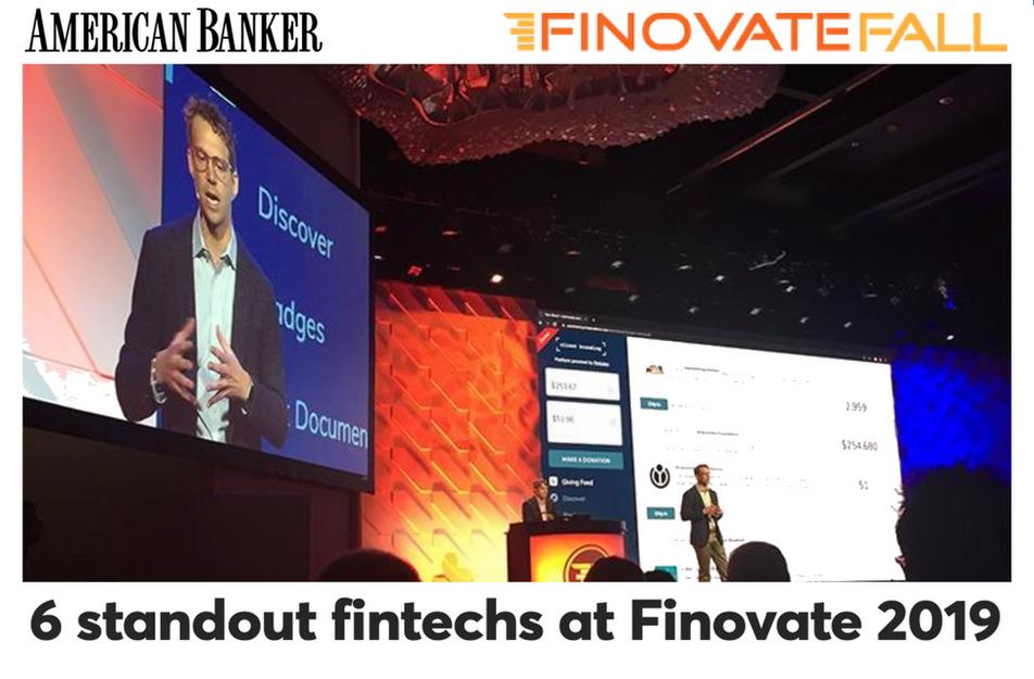6 Standout Fintechs at Finovate 2019