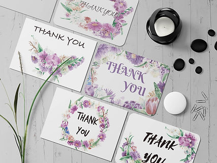 Thank you card printing
