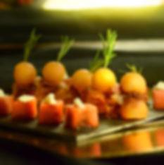 Dans votre petite cuisine | Bouchees pasteque melon | Traiteur