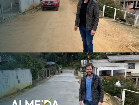 Mais três ruas do bairro Três Rios do Norte recebem concretagem