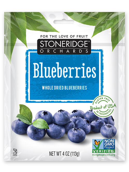 Whole Dried Blueberries 6/4oz