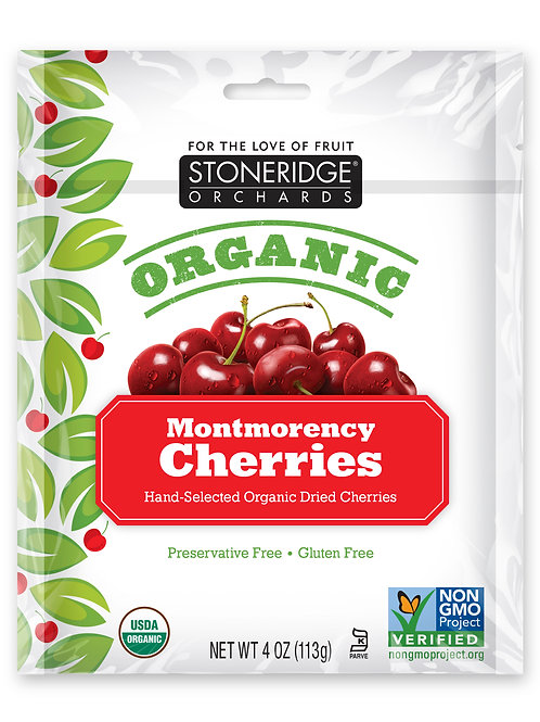 Organic Montmorency Cherries 6/4oz