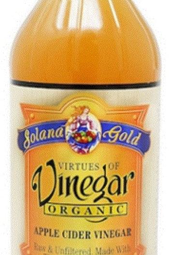 Solana Gold Organic Apple Cider Vinegar 12/16oz