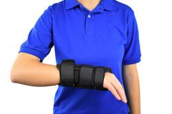 Thumb Orthosis on Arm