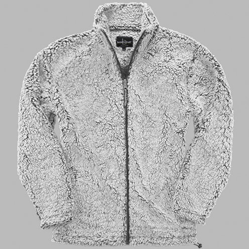 Ladies Frosty Grey Full Zip Sherpa