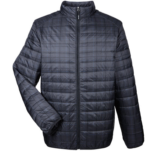 North End Men's Portable Interactive Printed Packable Puffer
