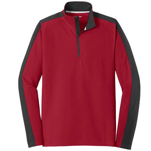 Sport-Tek®Sport-Wick®Textured Colorblock 1/4-Zip Pullover