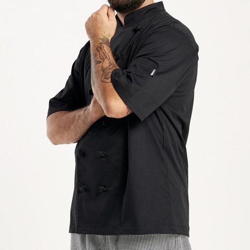 Men's Lightweight Stretch Short Sleeve Chef Jacket