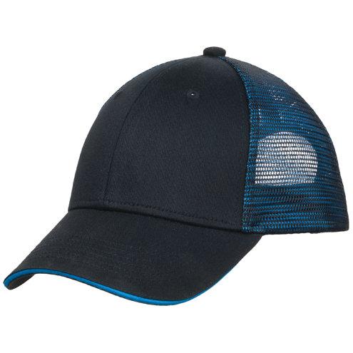 Port Authority® Double Mesh Snapback Sandwich Bill Cap