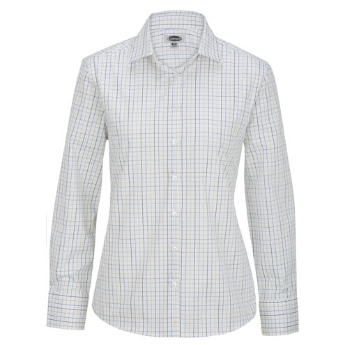 Ladies' Tattersall Poplin Shirt