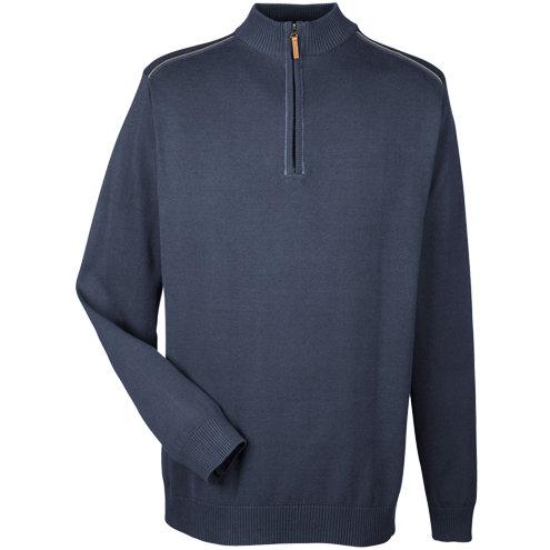 Devon & Jones Men's Manchester Fully-Fashioned Half-Zip Sweater