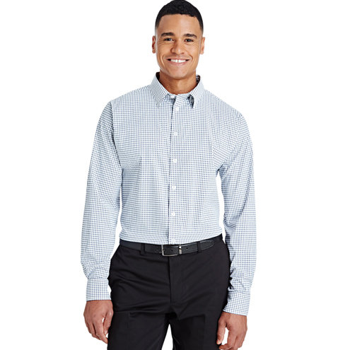 Devon & Jones Men's CrownLux Performance™ Micro Windowpane Shirt