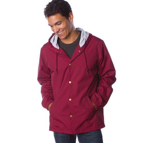 Water Resistant Hooded Windbreaker Coaches Jacket