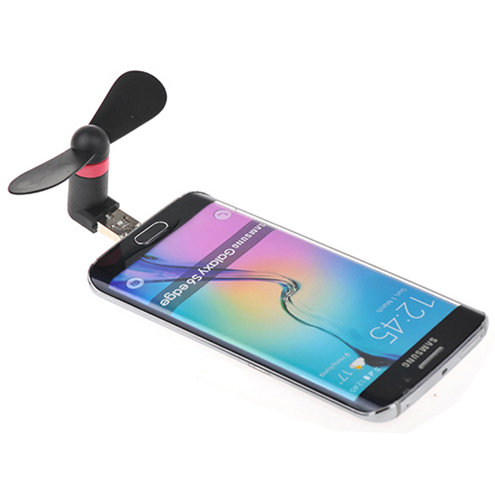 Mini Cell Phone Fan with Micro USB and USB Combo Connection