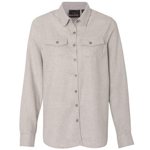 Burnside - Women's Long Sleeve Solid Flannel Shirt