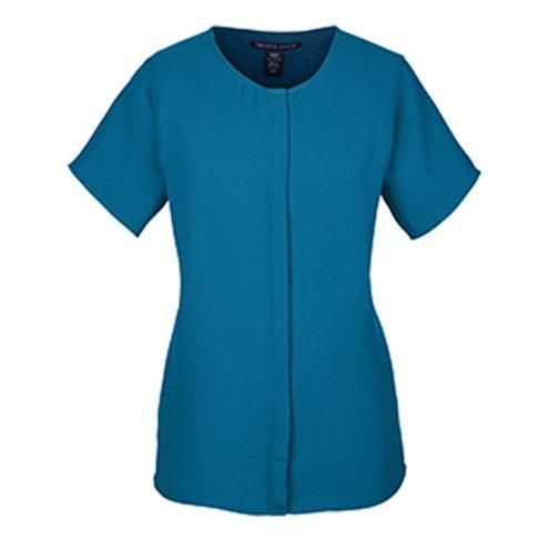 Devon & Jones Perfect Fit™ Short Sleeve Crepe Blouse