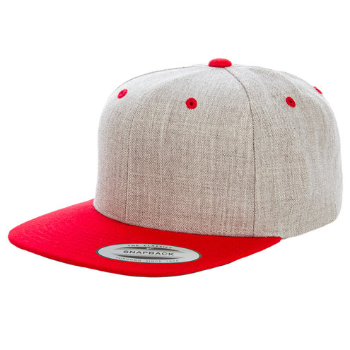 Yupoong Adult 6-Panel Structured Flat Visor Classic Two Tone Snapback