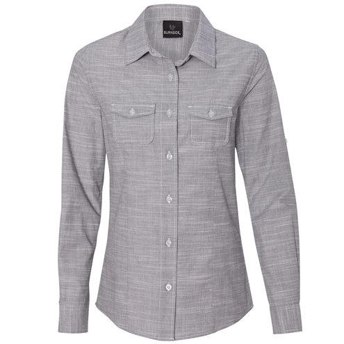 Burnside - Women's Textured Solid Long Sleeve Shirt