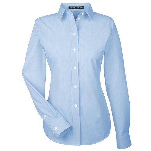 Devon & Jones Ladies' Crown Collection™ Striped Shirt