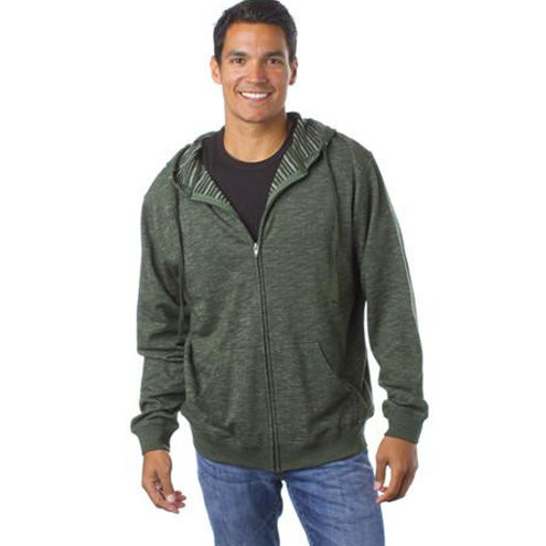 Baja Stripe French Terry Zip Hood - Men