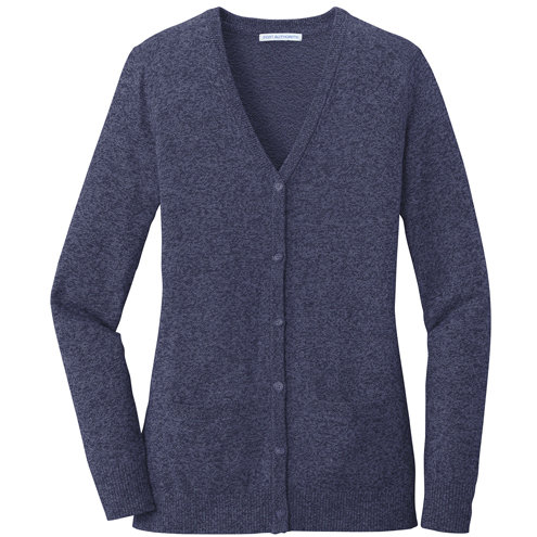 Port Authority ® Ladies Marled Cardigan Sweater