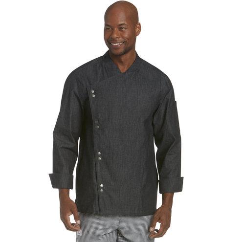 Lightweight Denim Crossover Chef Jacket