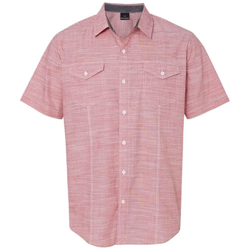 Burnside - Textured Solid Short Sleeve Shirt