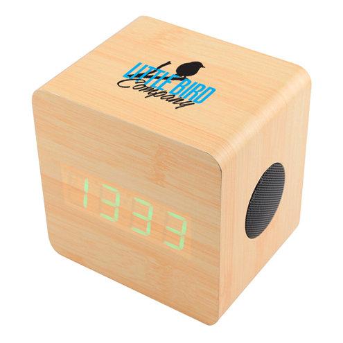 Cypress Wood Alarm Clock Bluetooth Speaker