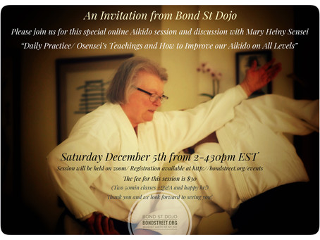 Mary Heiny Sensei: Dec 5, 2020