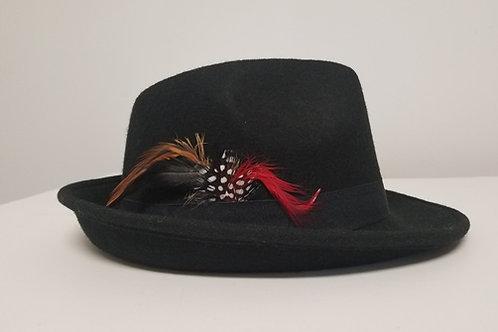 Fedora Hat, Black (short brim)