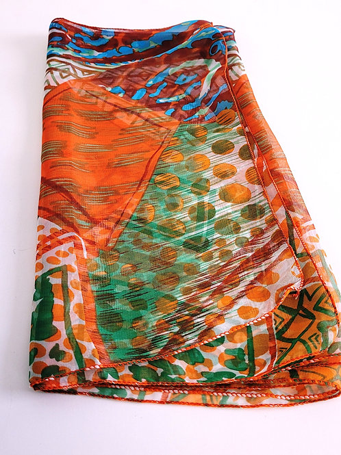 Scarf with Triangle Print Design