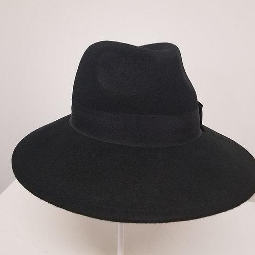 """Fedora Hat, """"Black"""" (Wide Brim)"""