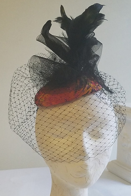 Fascinator Dome with veiling