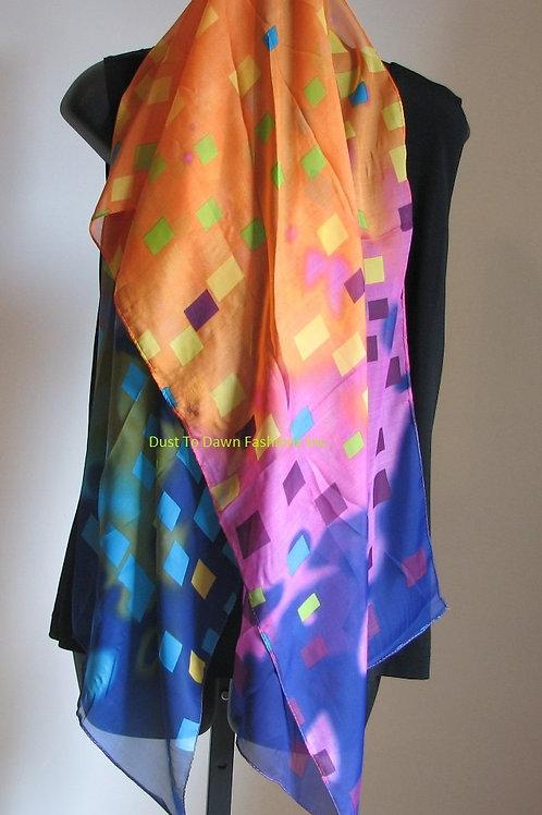 Scarf (Multi Colors Geometric)