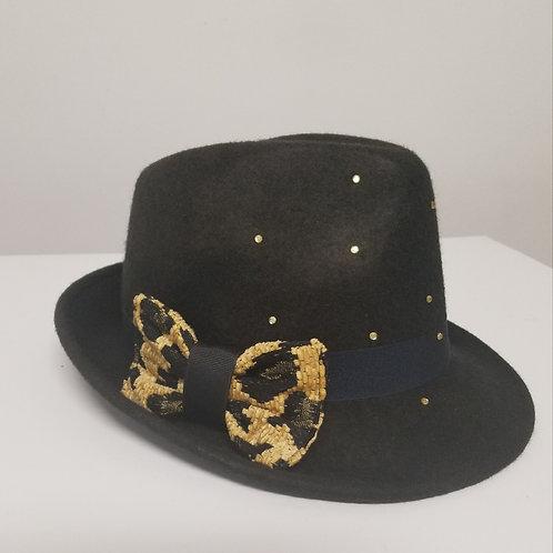 Fedora Hat (Rhinestone accents)